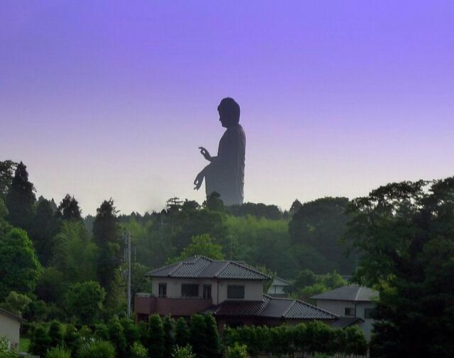 The Ushiku Daibutsu in Ushiku in Japan
